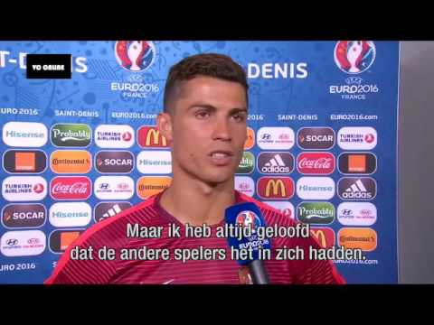 Cristiano Ronaldo emotional interview (Portuguese) after win euro 2016