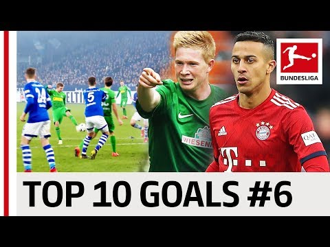 De Bruyne, Thiago & Co. - Top 10 Goals - Players with Jersey Number 6