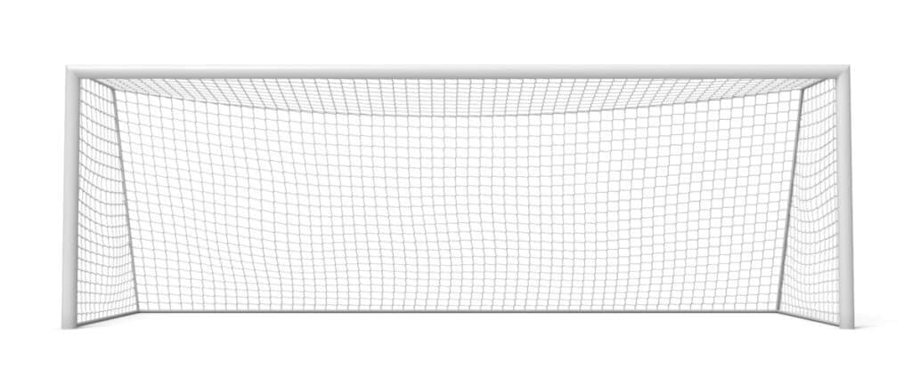 soccer goal posts and net