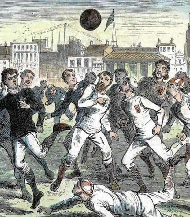 1800's soccer players