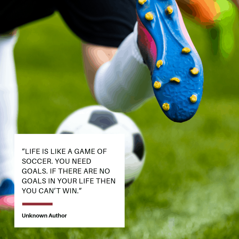 quote about soccer goals