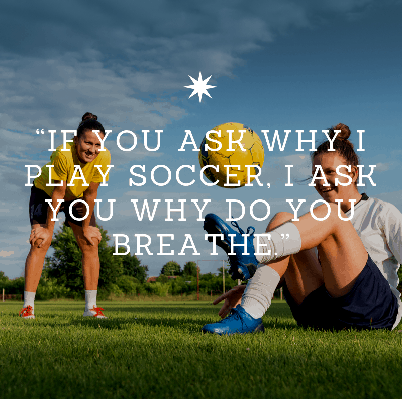 quote about playing soccer