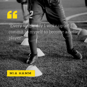 Mia Hamm short soccer quote - be the best