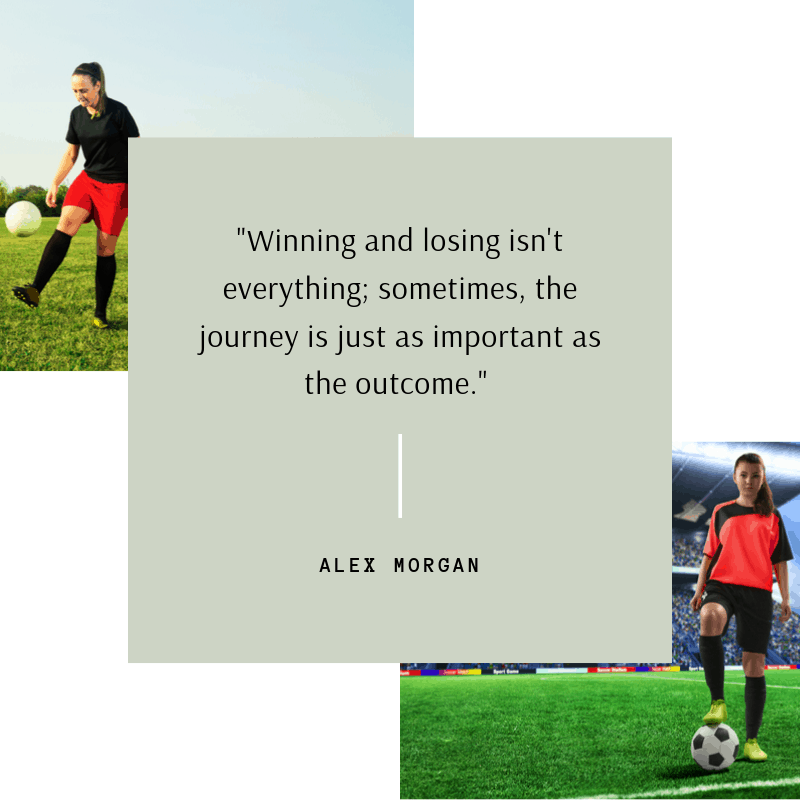 Alex Morgan quote about winning and losing