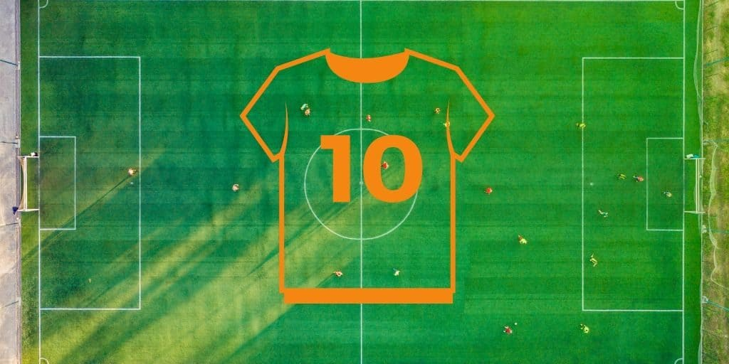 number 10 jersey on soccer field