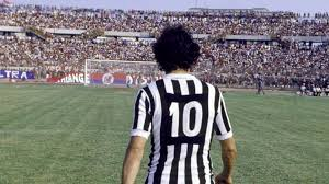Michel Platini in number 10 jersey