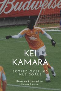 soccer player Kei Kamara wearing gloves