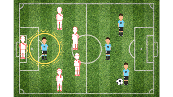 example of player in offside position
