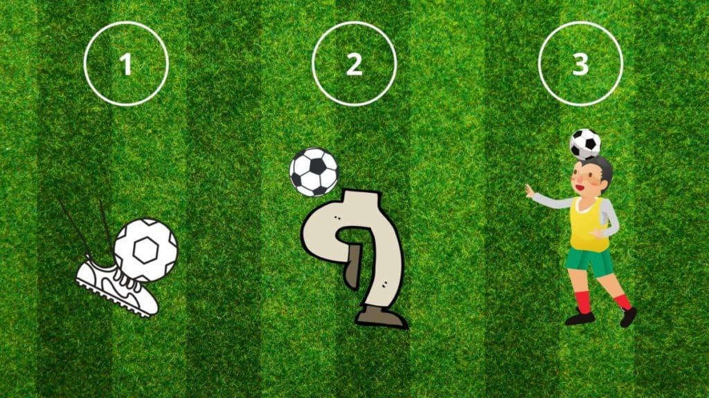 illustration of the ball control drill