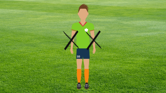 image showing player not using their arms
