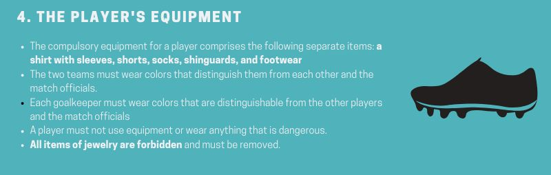 Soccer-Rule-4-The-players-equipment