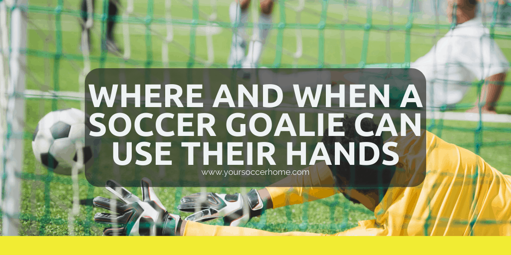 Where and when soccer goalie can use hands header image