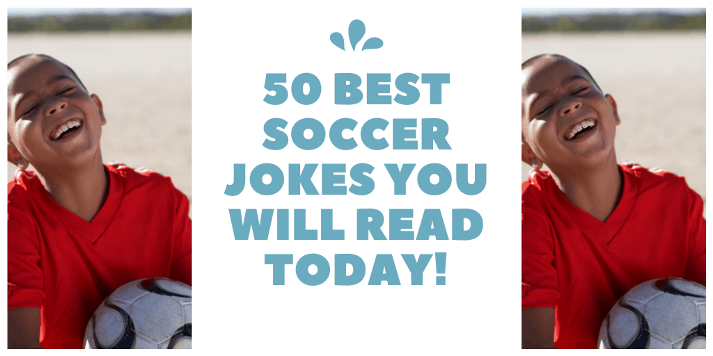 boy laughing best soccer jokes title image