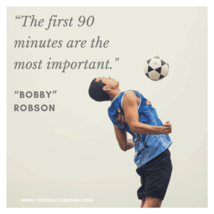 90 minutes - short soccer quote