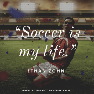 Ethan Zohn short soccer quote