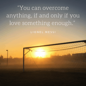 Lionel messi short soccer quote
