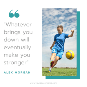 Alex Morgan short soccer quote