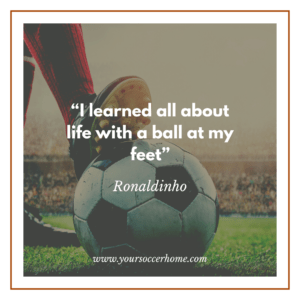 ball at feet short soccer quote