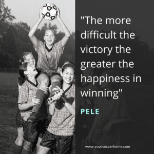 Pele short soccer quote