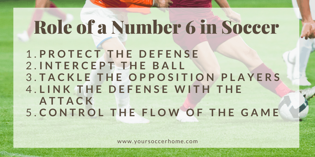 role of a number 6 in soccer