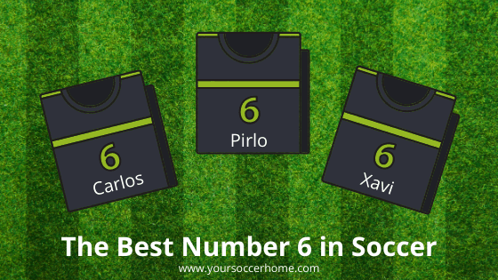 best number 6 in soccer