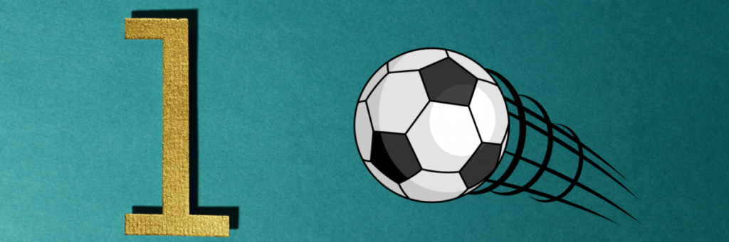 1 point and soccer ball image