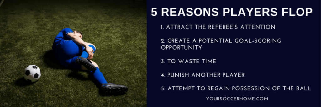 5 reasons soccer players flop infographic
