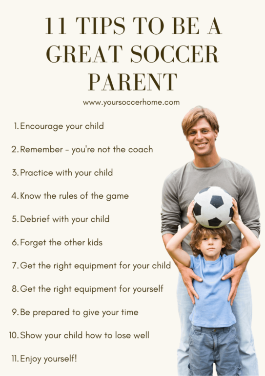 tips to be a great soccer parent infographic