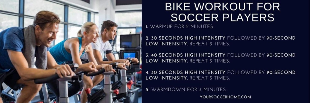 A bike workout for soccer players