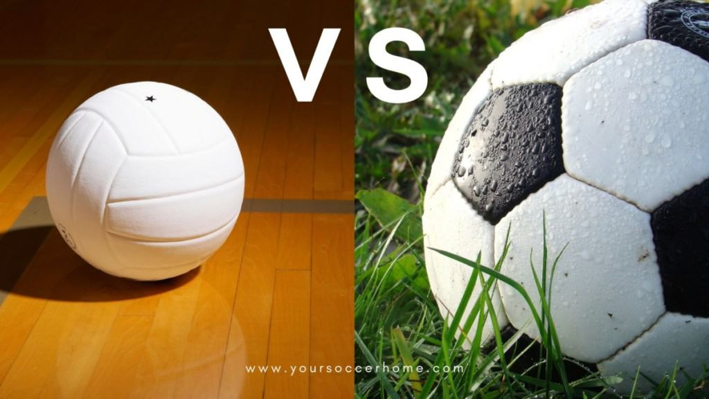 differences between soccer and volleyball