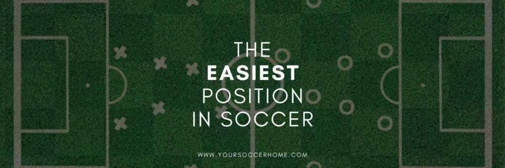 Easiest position in soccer post title over image of soccer field