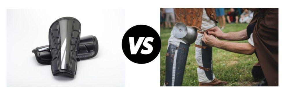 small vs large shin guards