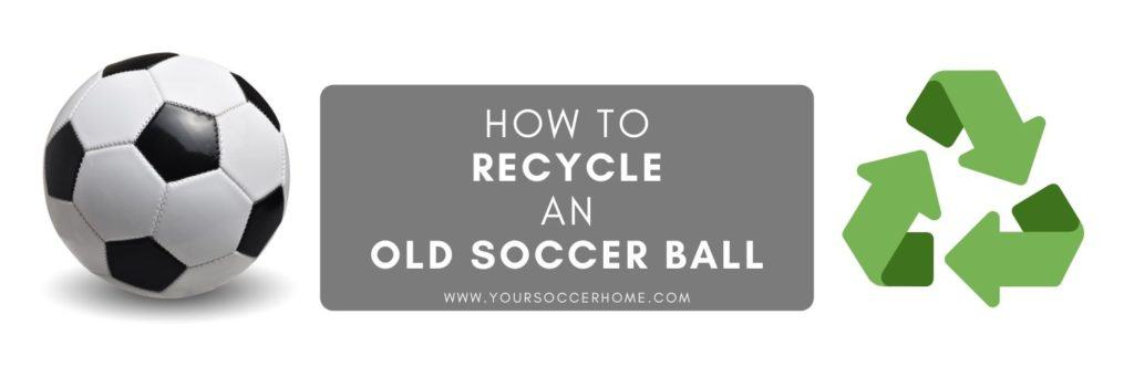 post title over image of soccer ball and recycle sign