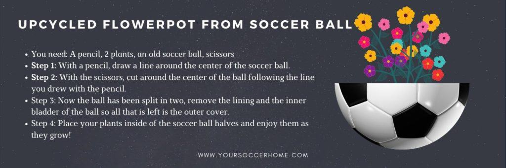 upcycled flowerpot from soccer ball instructions