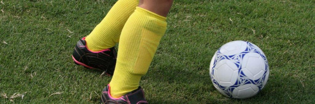 shin guard covered by sock