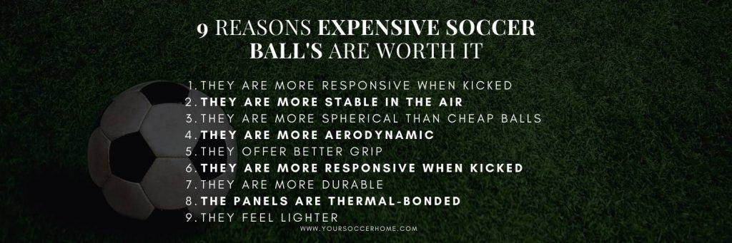 List of the 9 reasons expensive balls are worth it