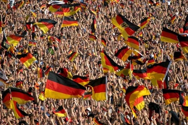 German soccer crowd