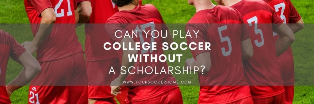 Post title over image of college soccer players
