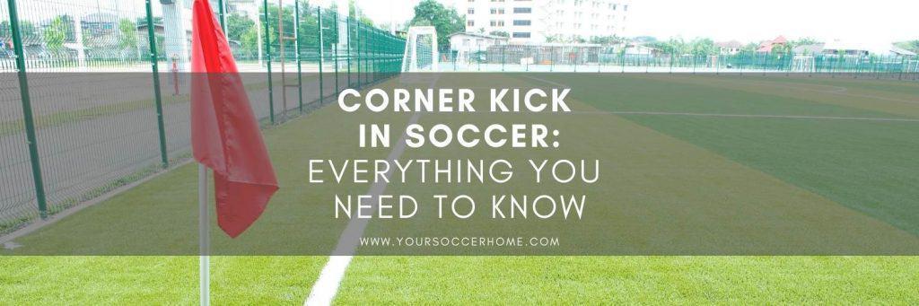 corner kick in soccer image