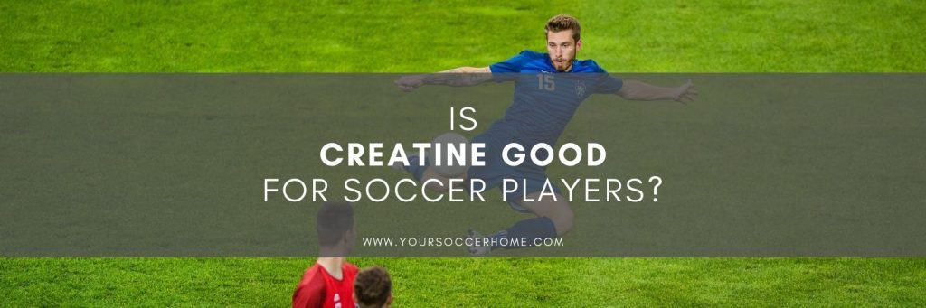 Image of soccer player behind post title