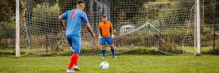 Player taking penalty kick