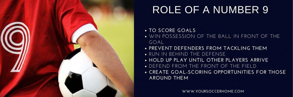 Role of a number 9 in soccer