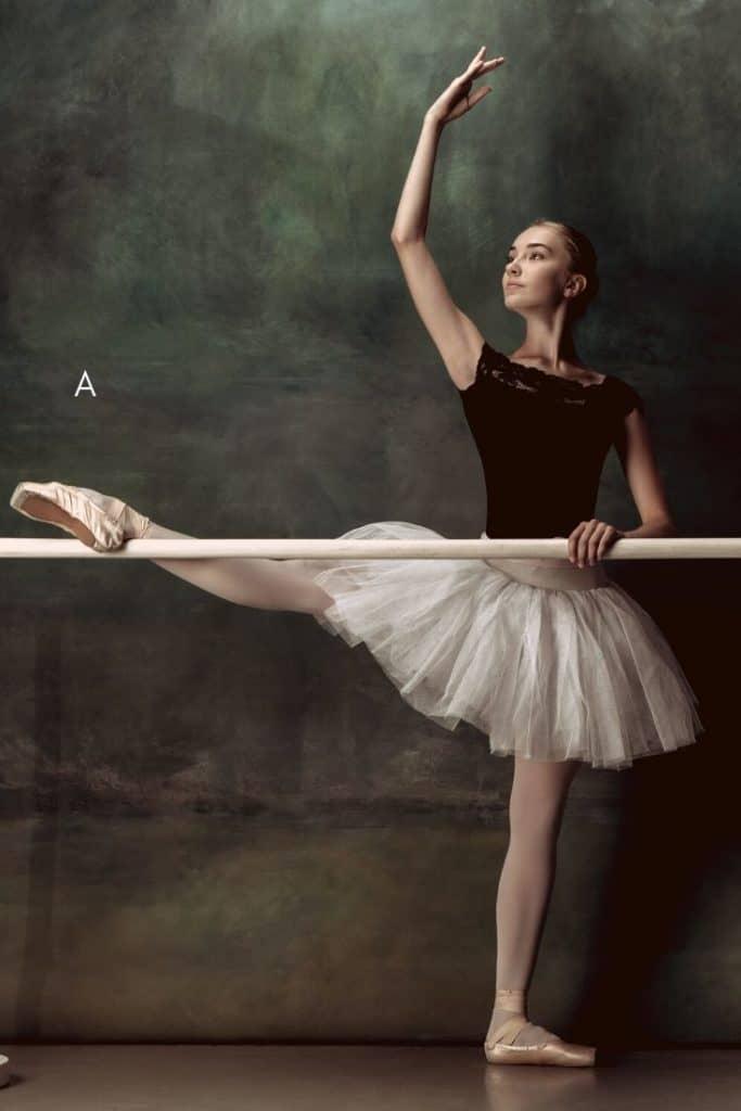 ballet dancer at barre