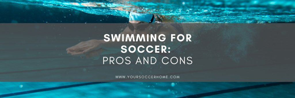 swimming for soccer title over image of swimmer